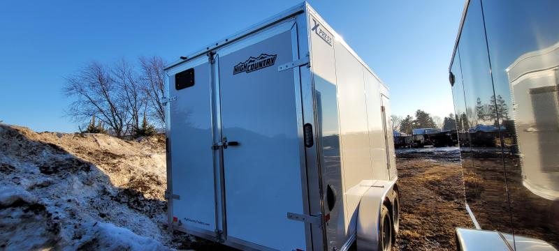2021 High Country XPRESS 7X14 Aluminum Enclosed Cargo Trailer-White with Barn Doors