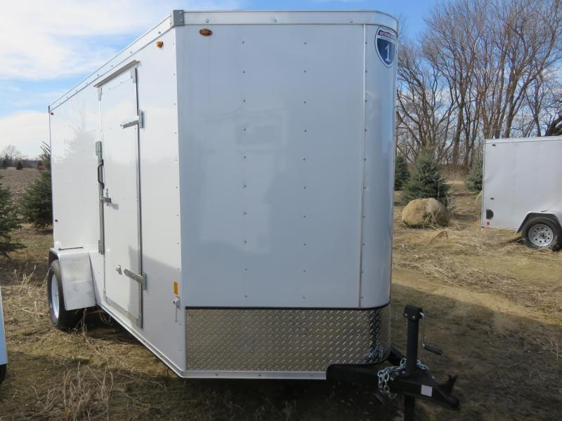 2020 Interstate 6x12 Enclosed Cargo Trailer-White with Ramp