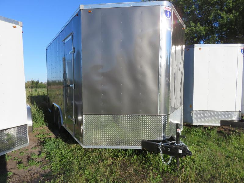 2021 Interstate 8.5x16 10K Enclosed Cargo Trailer Charcoal with Ramp