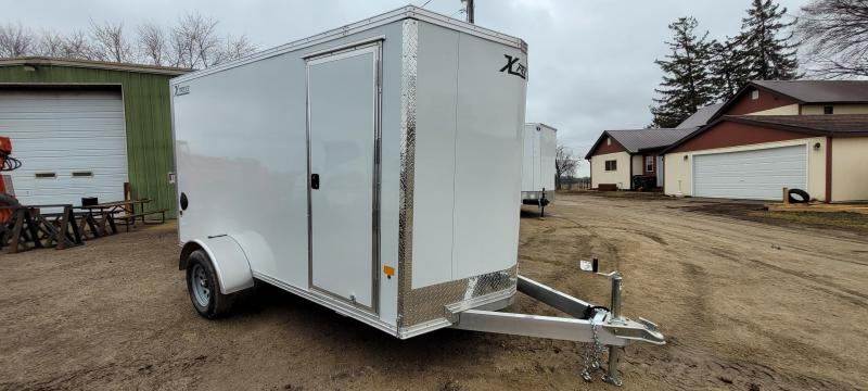 2021 High Country XPRESS 6X12 DL Enclosed Cargo Trailer-White, Ramp