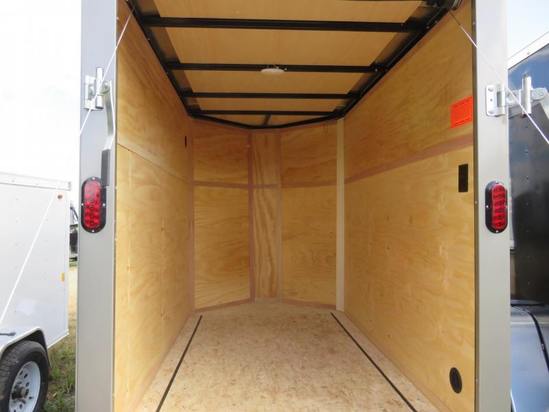 2021 Interstate 5x8 Enclosed Cargo Trailer-Pewter with Ramp & Extra Height