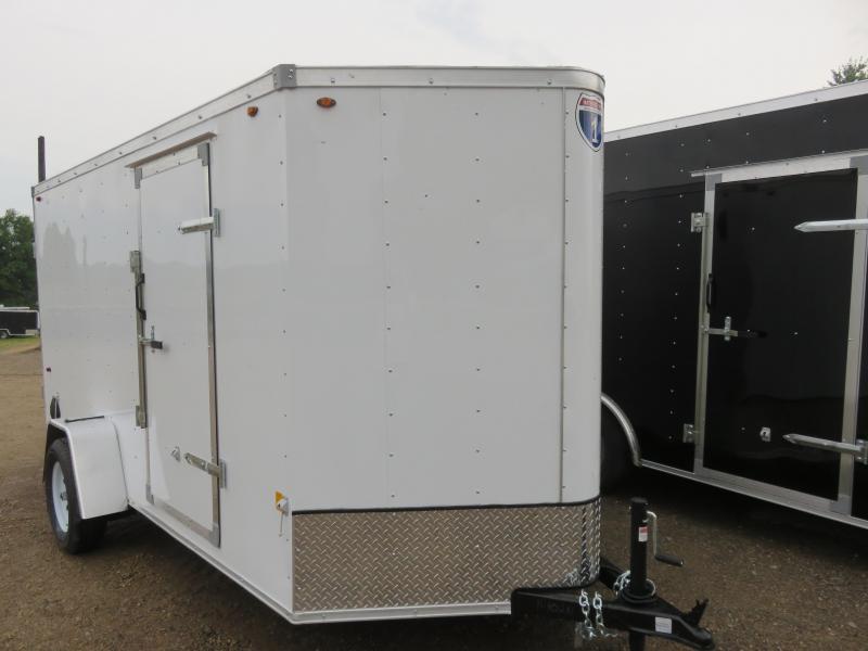 2020 Interstate 6x12 Enclosed Cargo Trailer-White with Barn Doors
