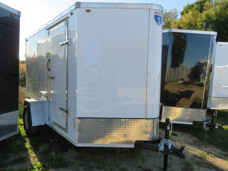 2021 Interstate 6x10 Enclosed Cargo Trailer-White with Barn Doors