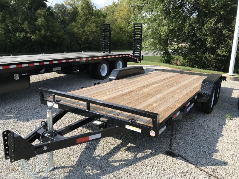 2021 Sure-Trac 7 x 18 C-Channel Flat Deck Car Hauler Tr