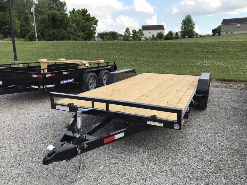 2021 Sure-Trac 7 X 18 Wood Deck Car Hauler  7k