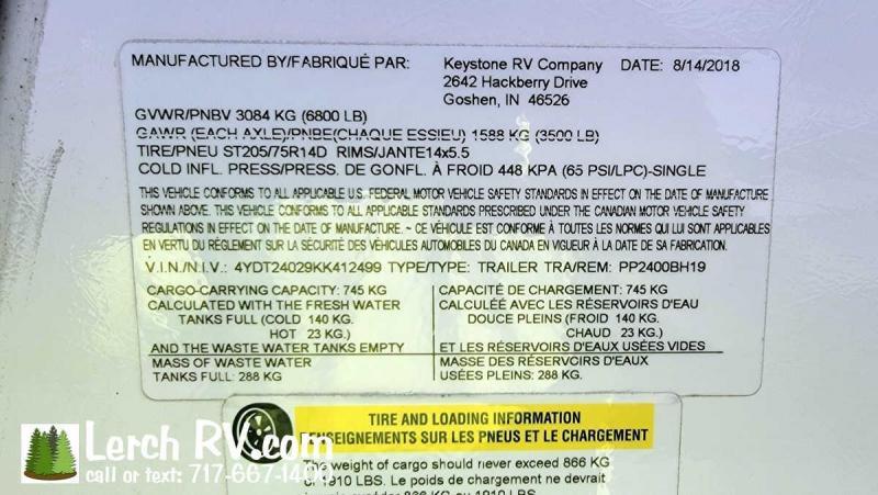 2019 Keystone RV Passport Ultra Lite 2400BH