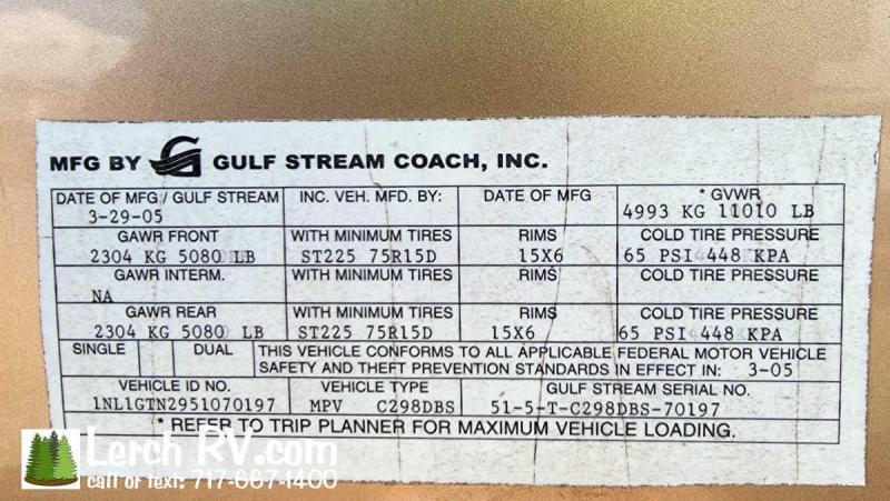 2005 Gulf Stream Conquest 289DBS