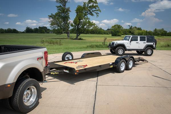 70CH 18 Big Tex Car Hauler Equipment Trailer Race Car Trailer Rear Dovetail with Slide in Ramps