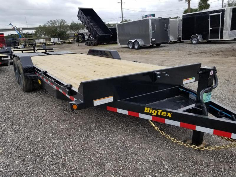 Big Tex 14ET -20' Equipment 7k Axles 20' TANDEM AXLE EQUIPMENT TRAILER W/ MEGA RAMPS