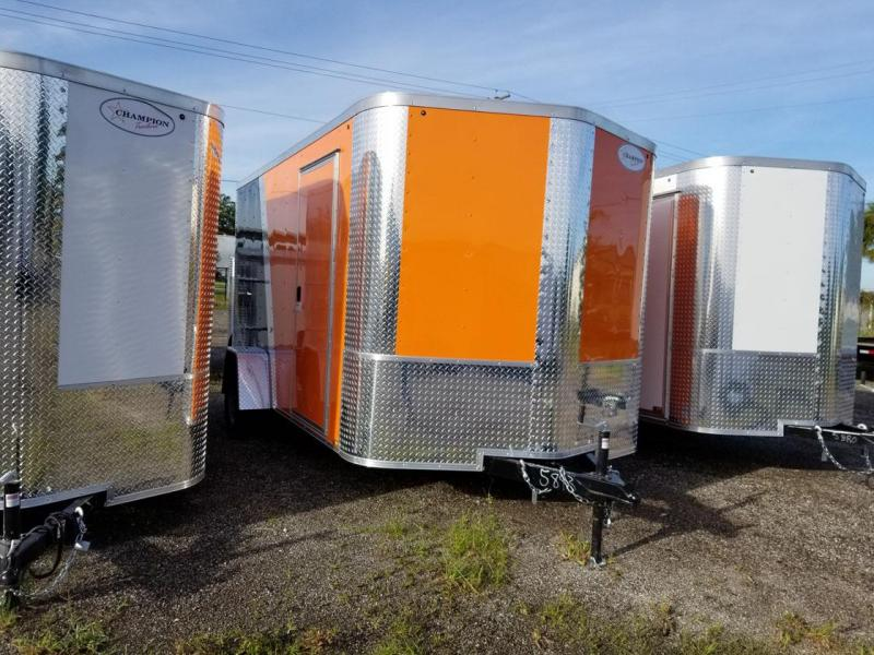Arising Black and Orange Enclosed Trailer Motor Cycle