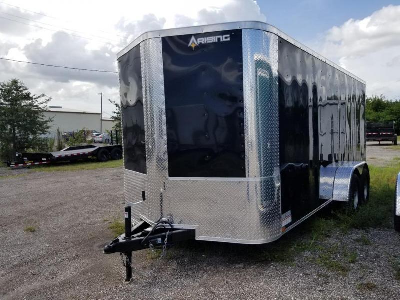7 x 16 x 6'3  Arising Industries Enclosed Cargo Motorcycle Storage