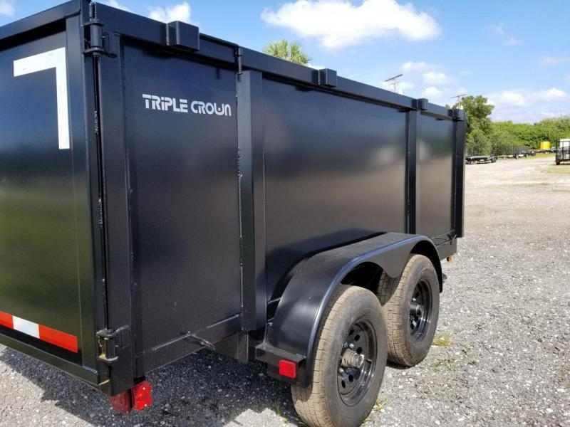 """Triple Crown Trailers 6'4x12 48""""Dump Trailer Landscape"""