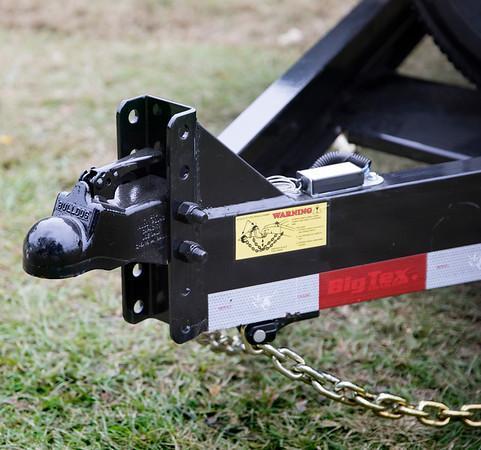 Big Tex Trailers  10DF-18' Equipmaent Car Hauler Driver over fender