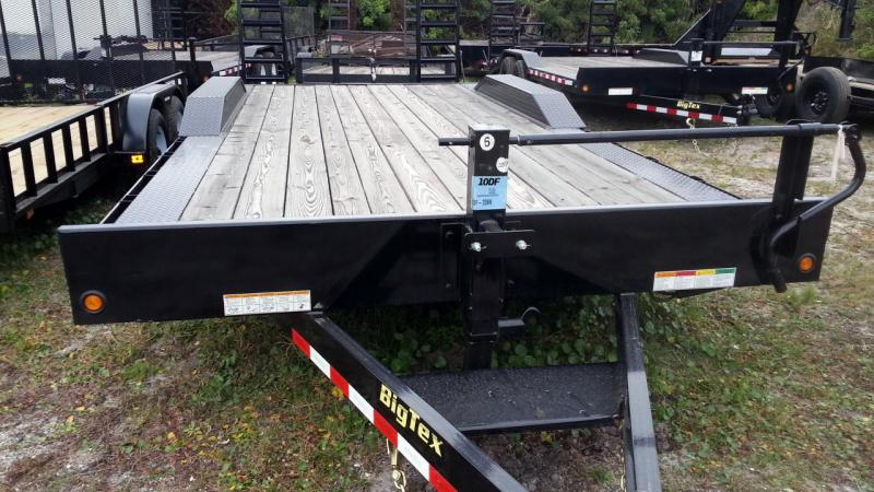 Big Tex Trailers  10DF-18' Equipmaent Car Hauler Driver over fender