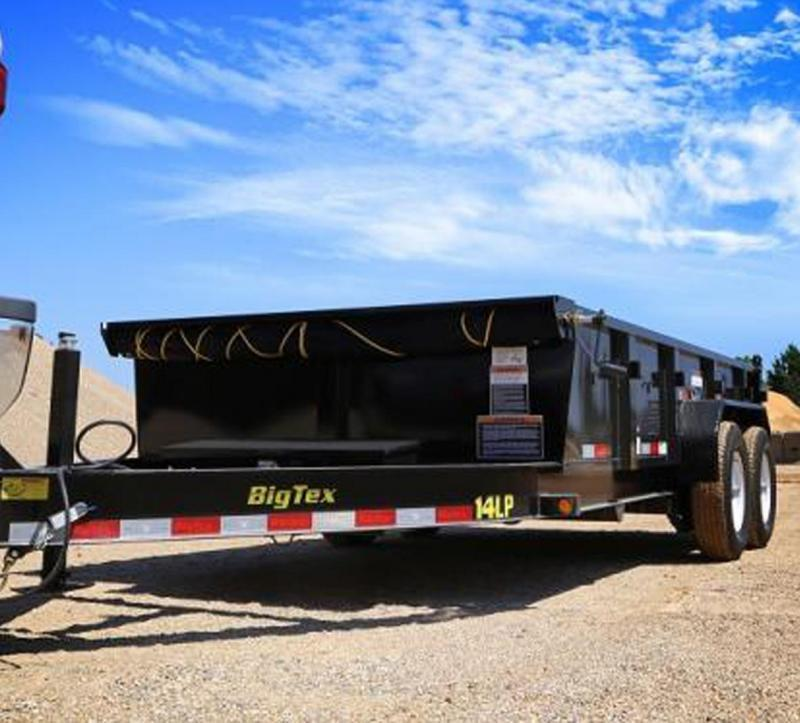 2020 Big Tex Trailers 14LP-16 Low Profile Dump Trailer with ramps