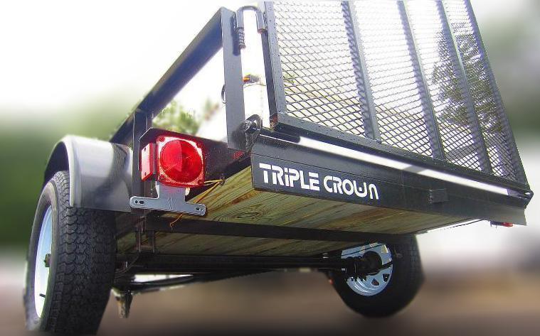 "Triple Crown Trailers 5x10x24"" SA  Mesh Sides Utility Trailer"