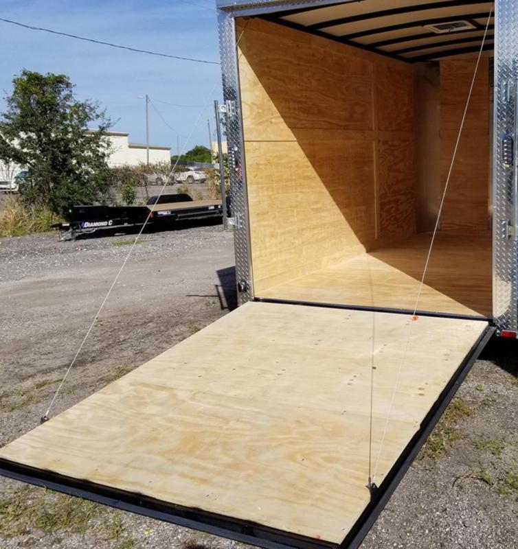 7 x 12 x 6'3 Arising Enclosed Cargo Trailer Motorcycle