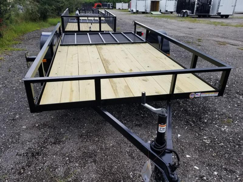2021 Triple Crown Trailers 6'4x12SA Utility Trailer