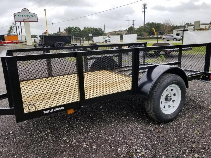 "2021 Triple Crown Trailers 5x10 24"" Mesh Utility Trailer"