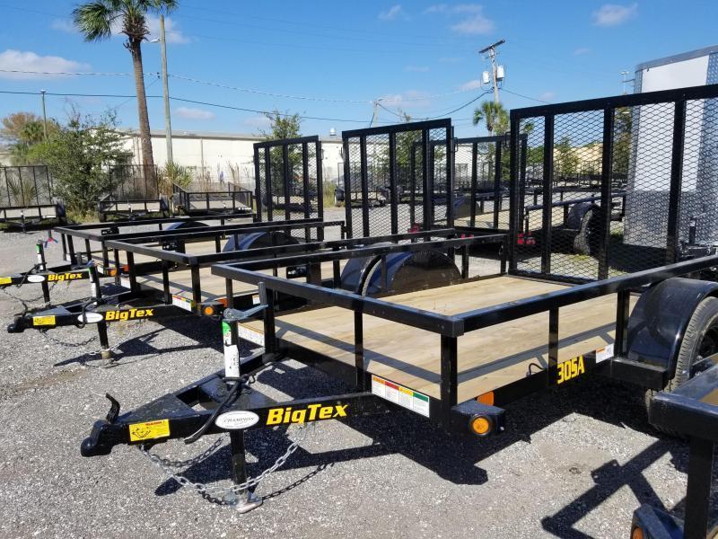 Big Tex 30SA- 5 x 8 Utility Trailer w/ 4' Ramp Gate Landscape
