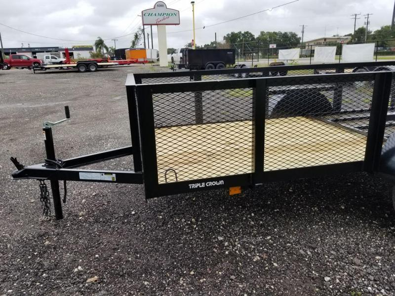 2021 Triple Crown Trailers 5x10 24' Mesh Utility Trailer