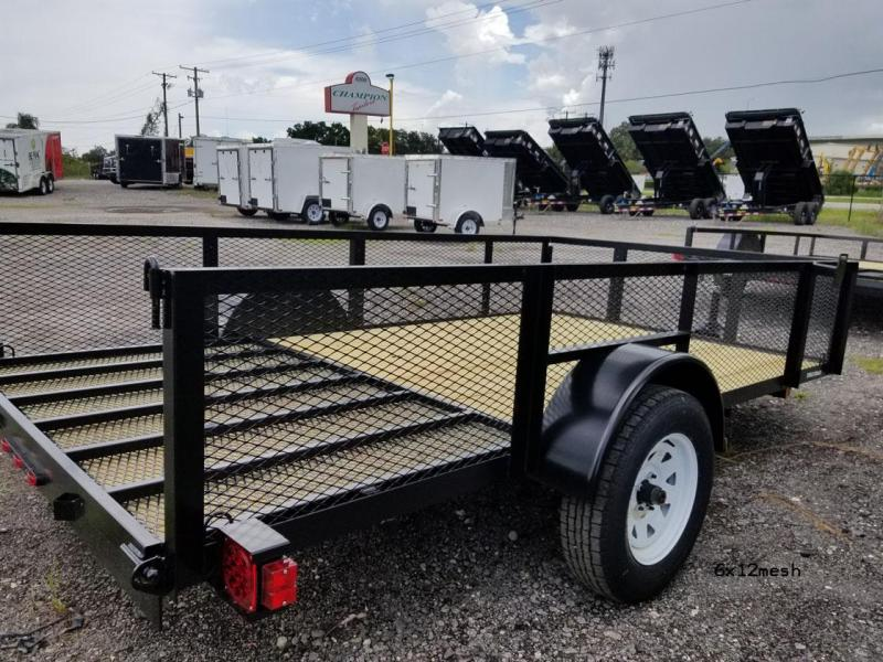 Triple Crown Trailers 5x10 Utility Trailer Mesh Sides