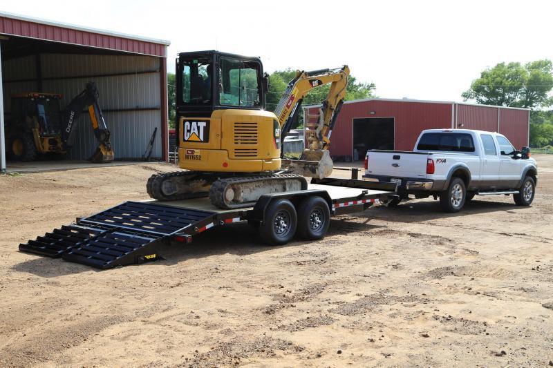 Big Tex 14ET -20' Equipment 7k Axles 20' TANDEM AXLE EQUIPMENT TRAILER W/ MEGA RAMPS