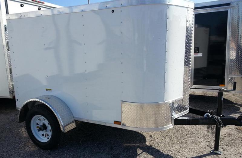 Arising 4'x6' Enclosed Cargo Trailer Luggage Storage