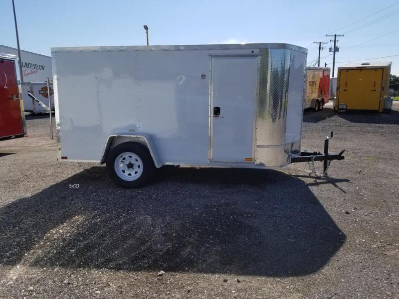 Arising 5x10 Enclosed Cargo Trailer Motor Cycle Storage