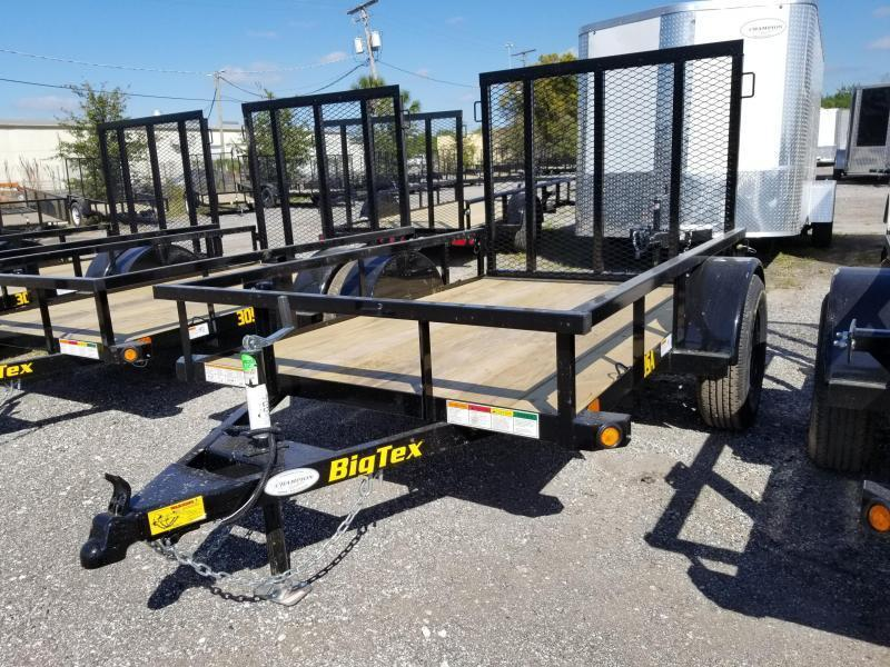 Big Tex 30SA- 5 x 8 Utility Trailer w/ 4' Ramp Gate Landscape