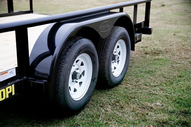 Big Tex 70PI-16' Trailers Utility Pipe Top Landscape