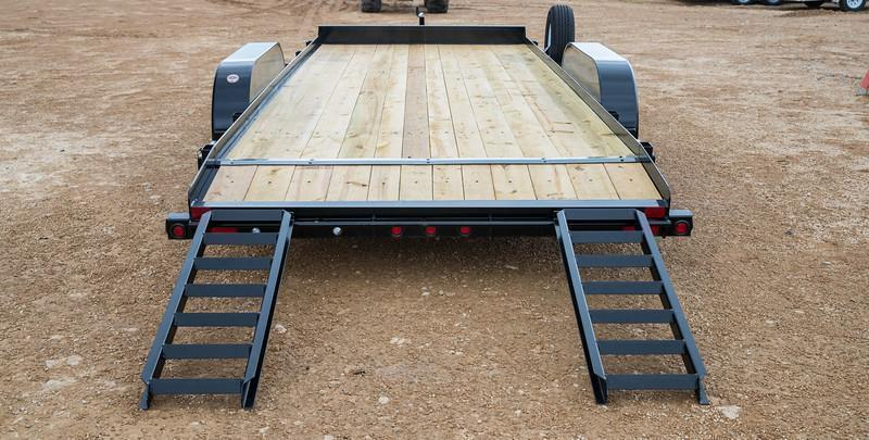 70CH 20' Big Tex Car Hauler Equipment Trailer Race Car Trailer Rear Dovetail with Slide in Ramps