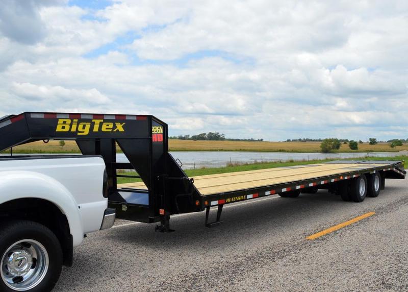 Big Tex 22GN 28'+5' Gooseneck Tandem Dual Equipment Hauler Trailer 33' Gooseneck Trailer