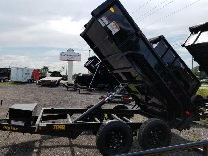 2021 Big Tex Trailers 70SR-10-5W Dump Trailer  Hauling landscape