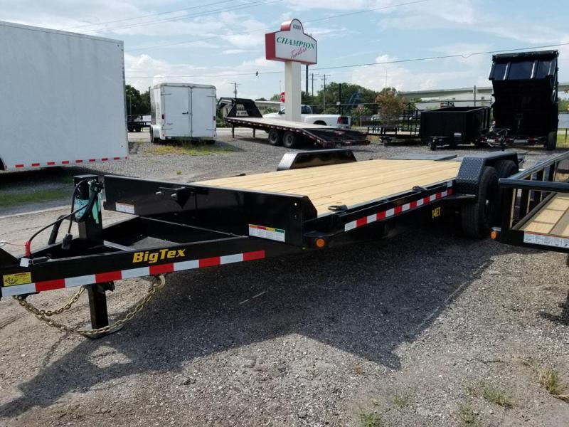 Big Tex 14ET -18' TA Equipment 7k Axles 18' TANDEM AXLE EQUIPMENT TRAILER KNEE RAMPS