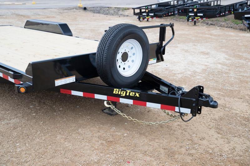 Big Tex 14ET -18' TA Equipment 7k Axles 18' TANDEM AXLE EQUIPMENT TRAILER KNEE RAMPS
