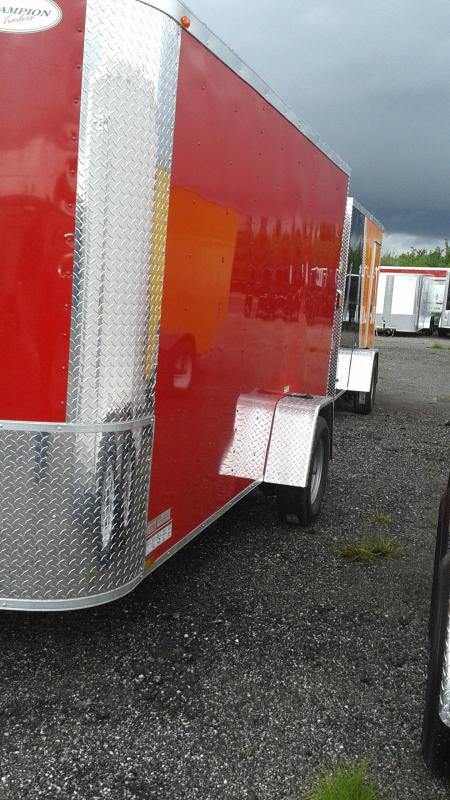 Arising 6x12x6 Single Axle Red Enclosed Trailer Motor Cycle