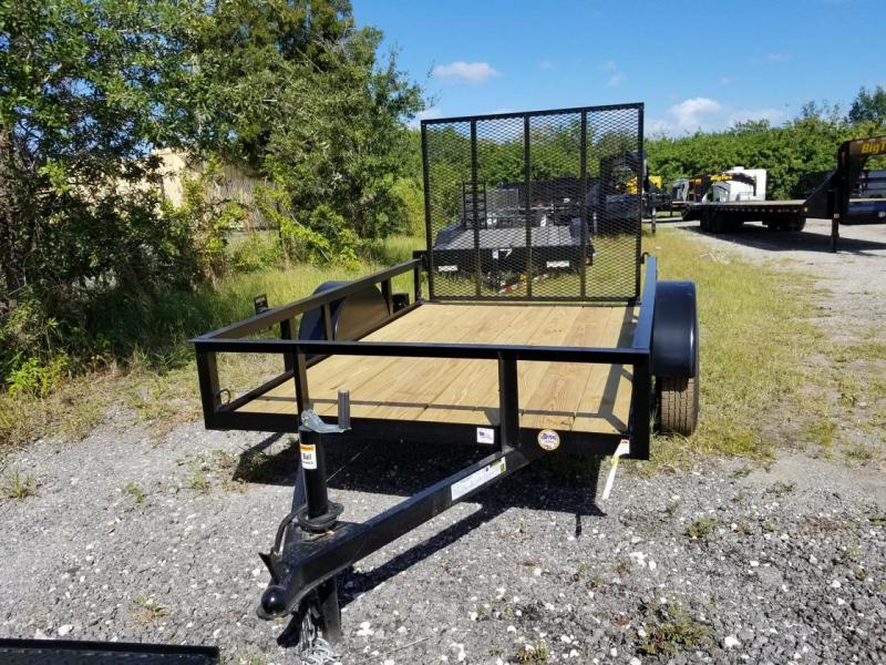 "TC 5 x 8 Utility Trailer with 24"" Mesh Sides Landscpe"