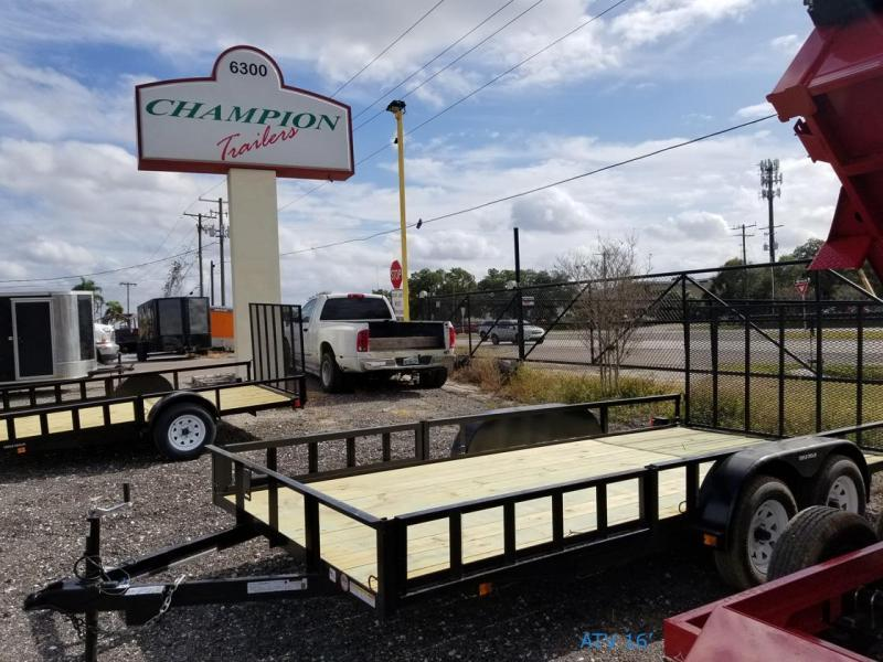 2021 Triple Crown Trailers 7x16 ATV Utility Trailer