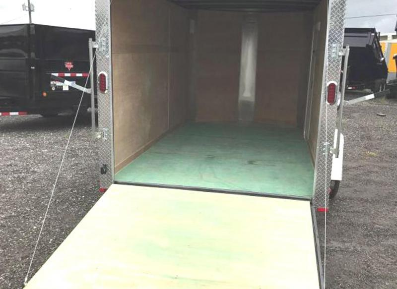 Arising 7 x 12 Enclosed Trailer Cargo Trailer Tandem Axle Motorcycle Storage