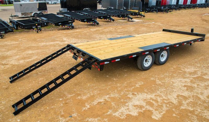 Big Tex 14OA 8.5 x 20' Deckover Equipment Trailer with Slide in Ramps