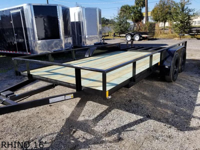 2021 Rhino 6'4x16TA Utility Trailer Landscape