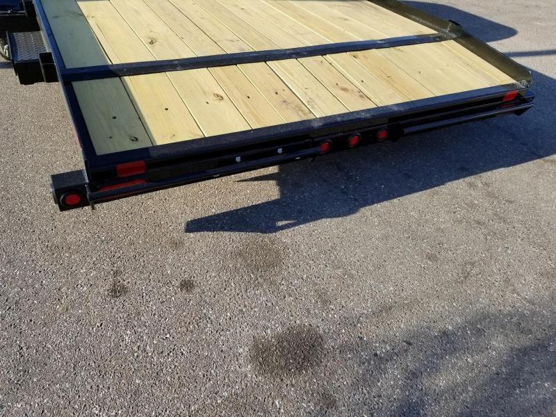 70CH 18 Big Tex Car Hauler Equipment Trailer Race Car Trailer Rear Dovetail with Slide in Ramps