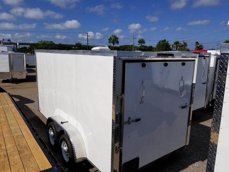 Arising 7x14x6 White Enclosed  Cargo Trailer Motorcycle trailer Storage