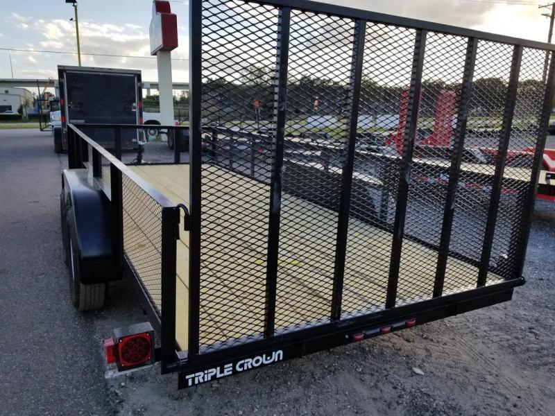 Triple Crown Trailers 6'4x16 Mesh Utility Trailer  Lawncare