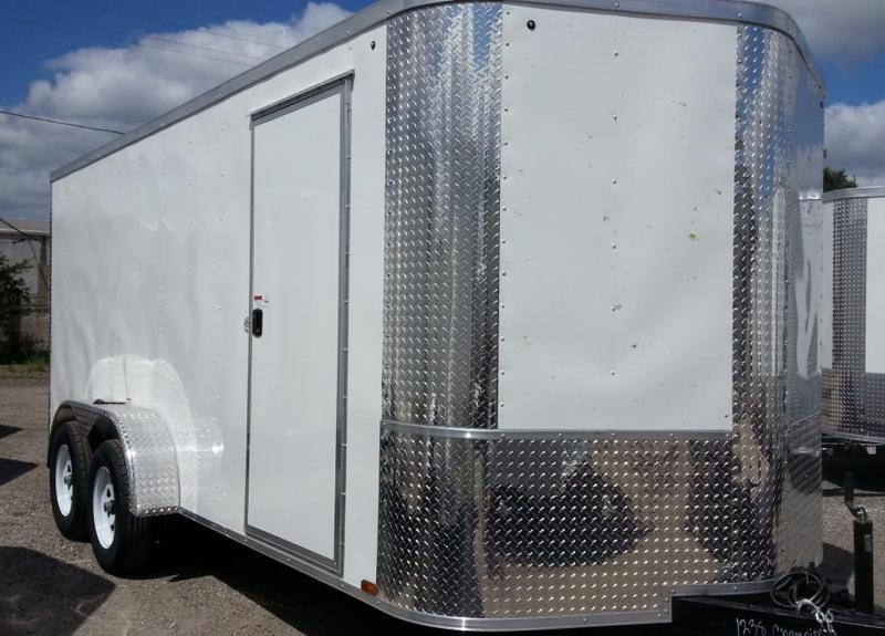 7 x 14 x 6 TA  Arising Industries Enclosed Motorcycle Storage