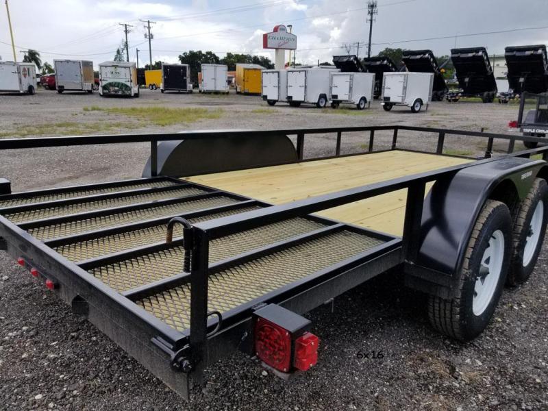 2021 Triple Crown Trailers 6'4x12 Utility Trailer Landscape