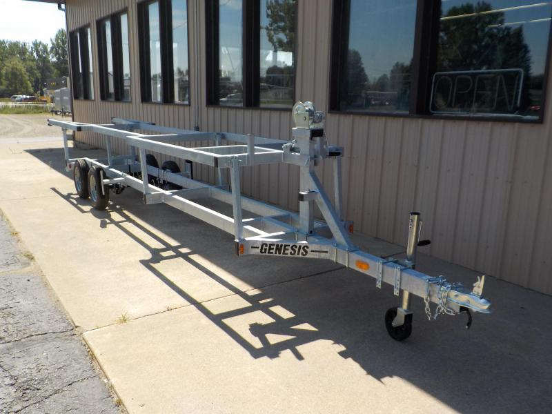 2021 Genesis 20' Crank-Up Pontoon Trailer