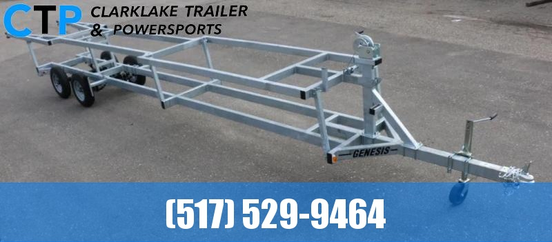 2021 Genesis 24' Crank Up Pontoon Trailer