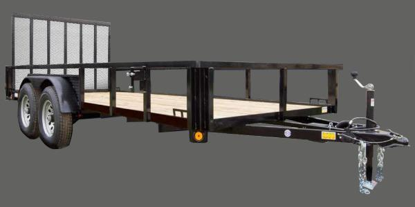 2022 Quality Steel and Aluminum 82x18 TA DLX Alum  Utility Trailer